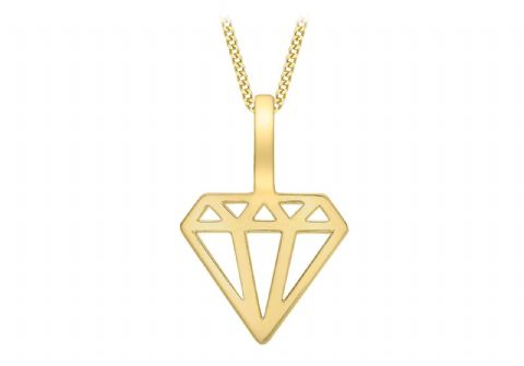 9ct Yellow Gold Cutout Diamond Shape Icon Charm / Pendant                   4579